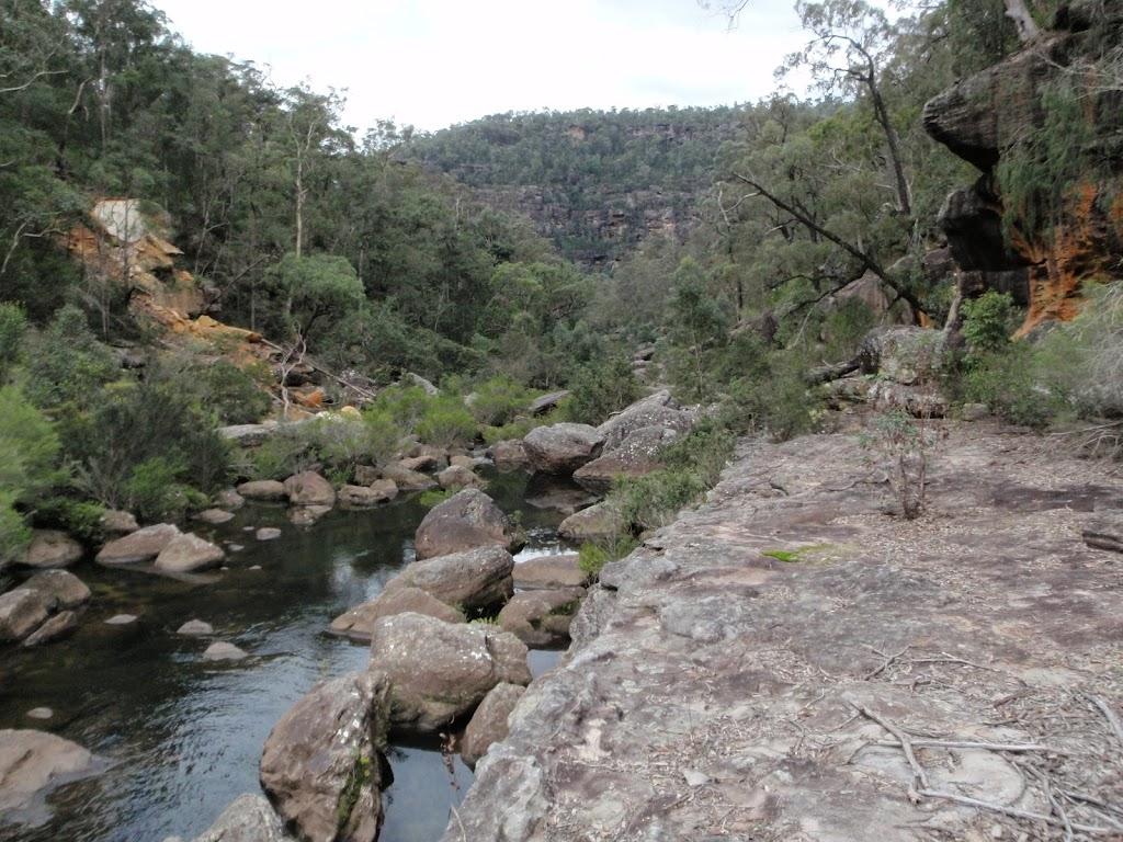 Rock shelf beside Erskine Creek