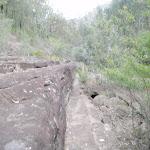 Rock platforms beside the creek can make for easer walking (144549)