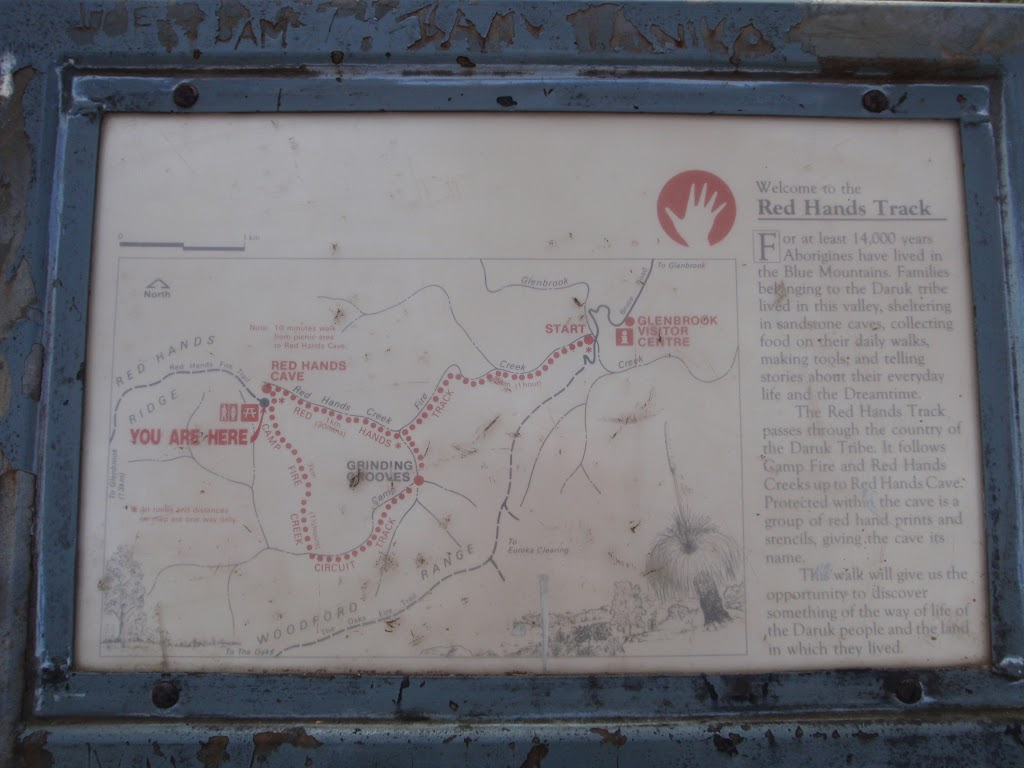 Information sign at start of Red Hands Cave walk (145467)