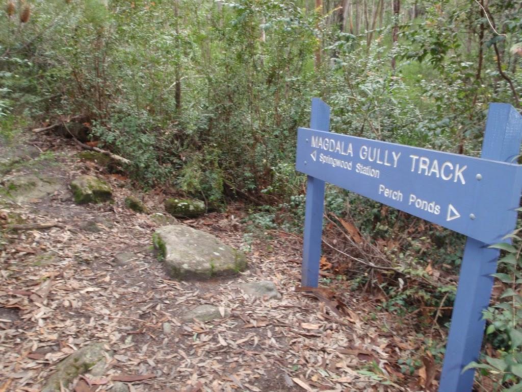 Magdala Gully Track sign