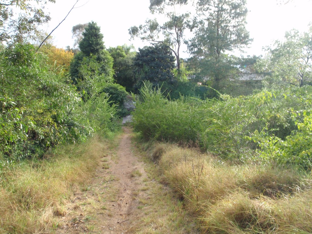 Grassy track to Lapstone Pl