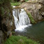 Waterfall below Blue Lake
