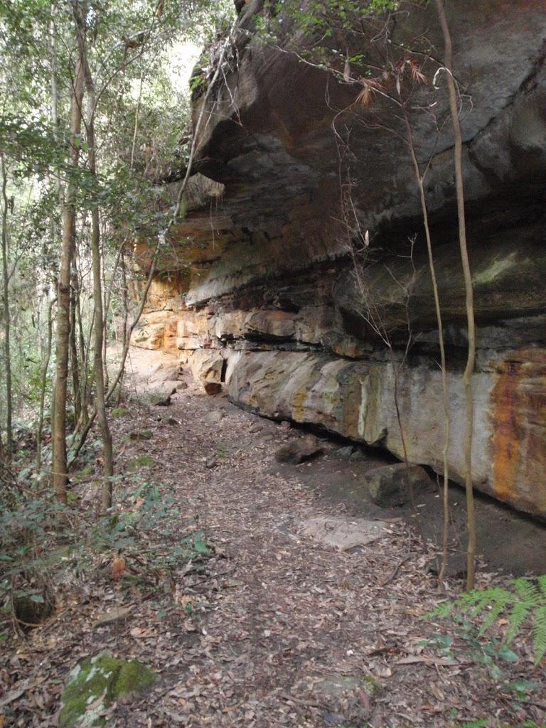 Magdala Track under cliffs