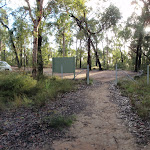 Looking towards car park at the top of Jack Evans Track