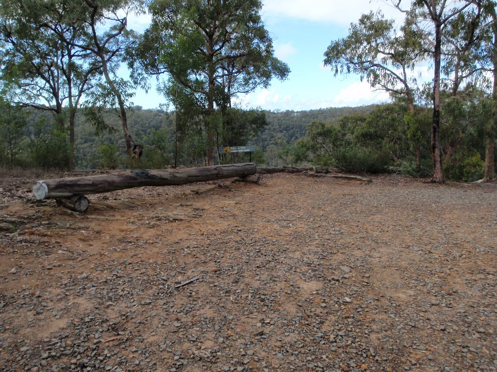 Large clearing at the end of the Nepean Lookout management trail