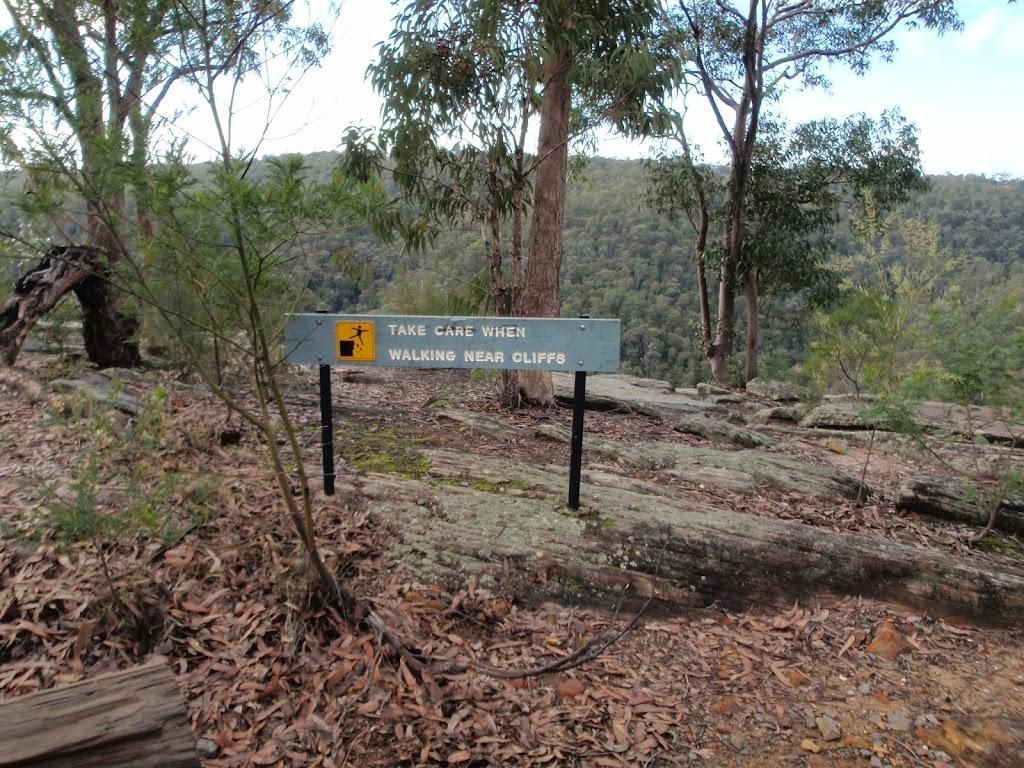 Walking sign near lookout