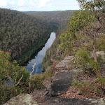 View up the Nepean River from lookout (150504)