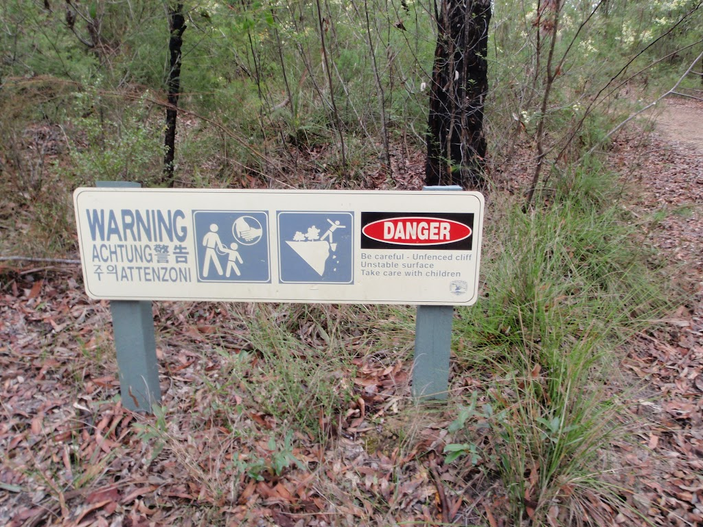 Please heed warning and take care near unfenced cliffs (151143)