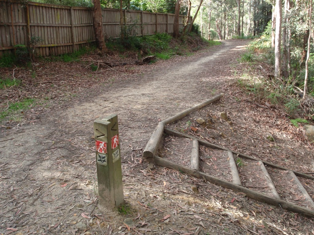 A red GNW marker on the Blackwatttle trail (152755)