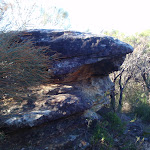 Rock outcrop on the Willunga track