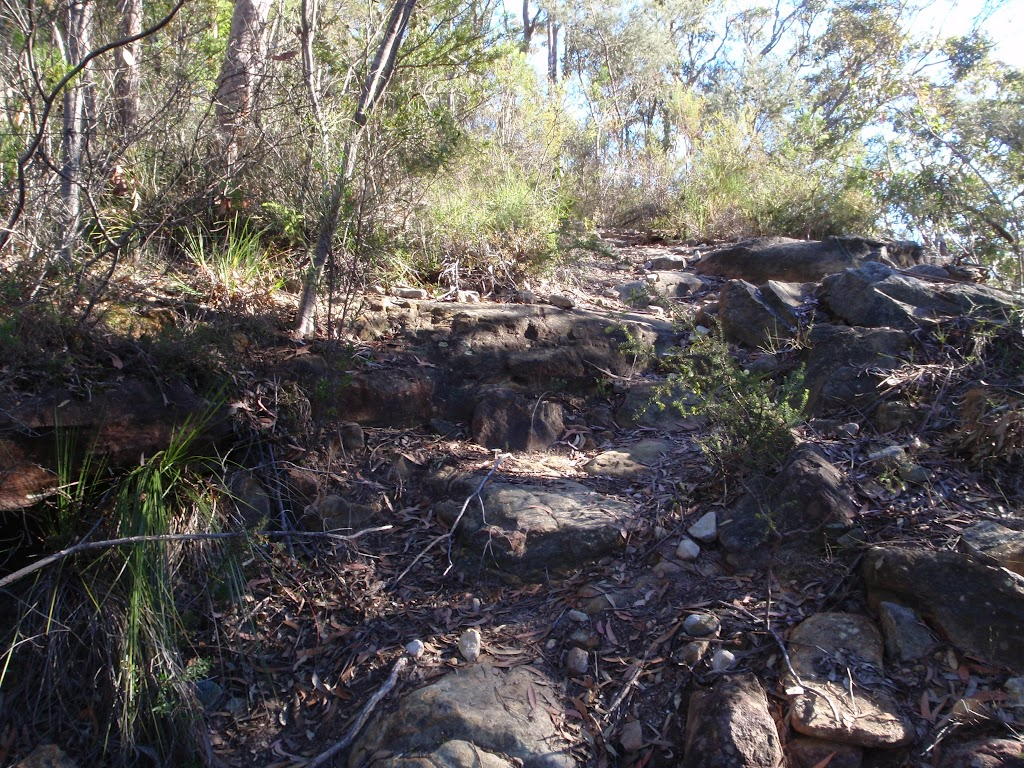 A rocky section of the Willunga track