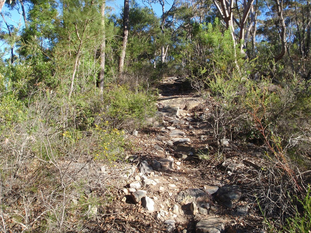 Climbing to the Willunga trig point