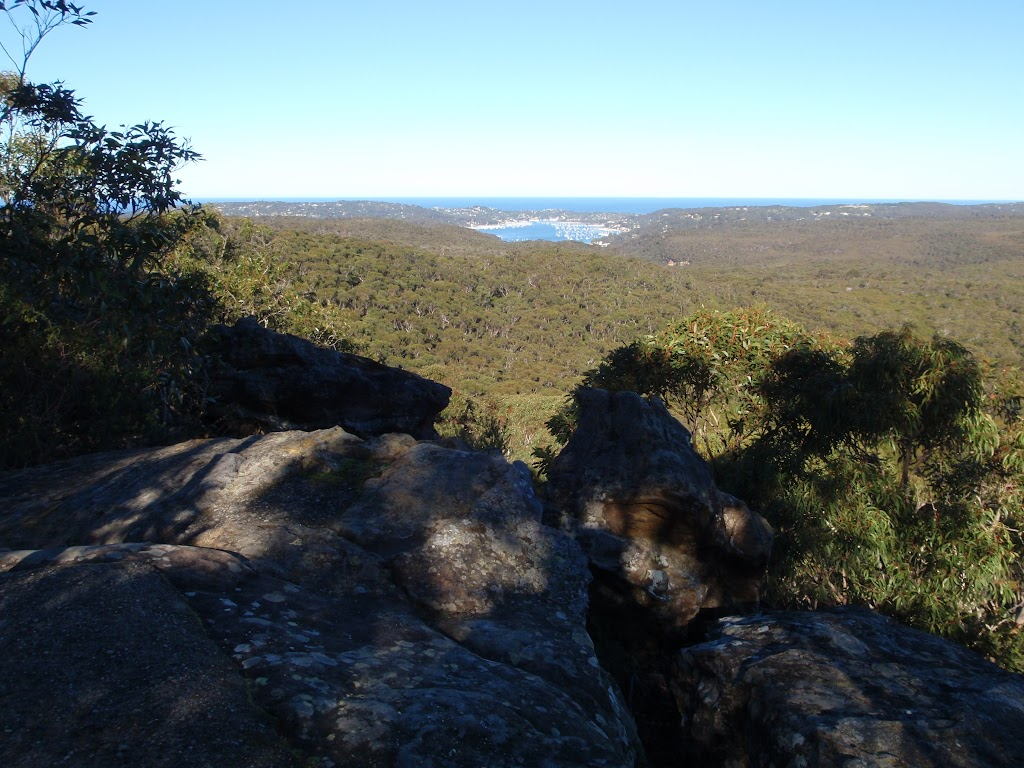 Pittwater from the Willunga trig point