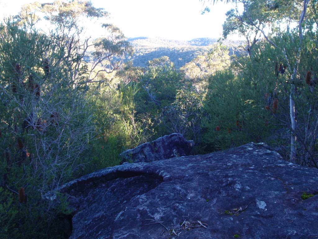 A rocky outcrop on the Topham track