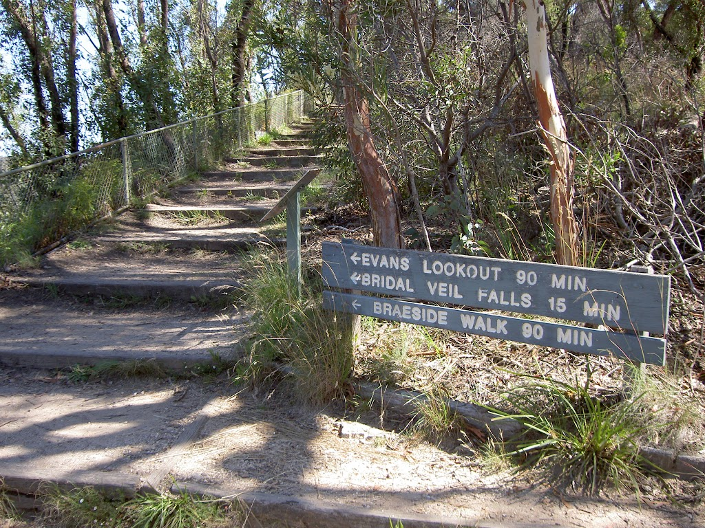 Clifftop track east of Govetts Leap