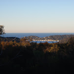 A glimpse of Pittwater from the Topham track