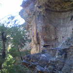 The cliffs next to the track down to the cave (16135)