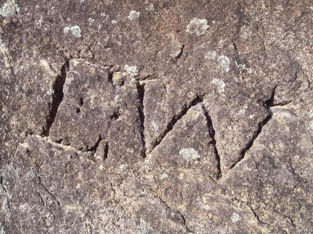 Convict Rock graffiti