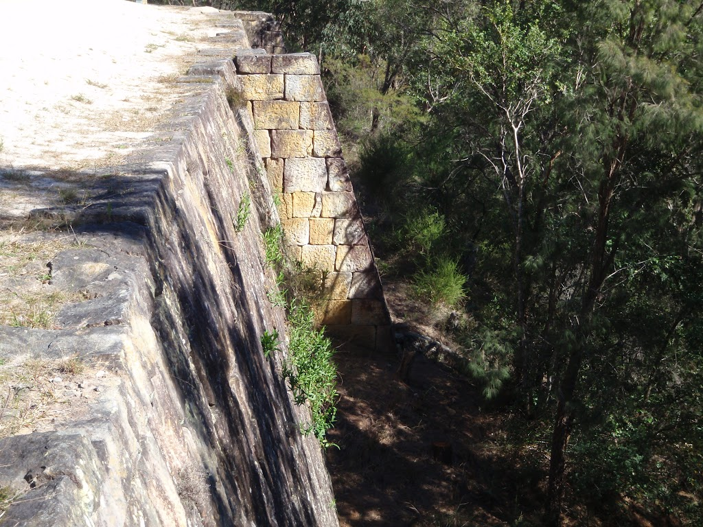 Retaining wall and support on the OGNR