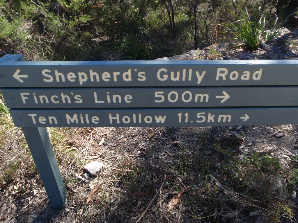 Signposted in of OGNR and Shephard's Rd