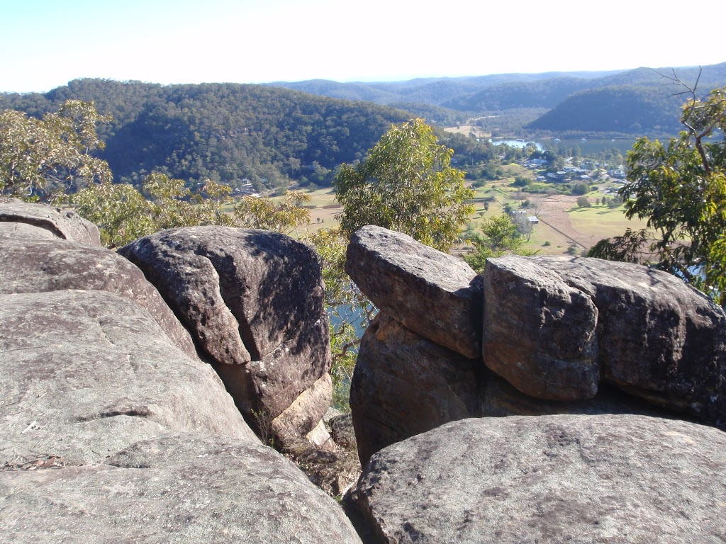 Viewpoint on a rock outcrop along Finchs Line