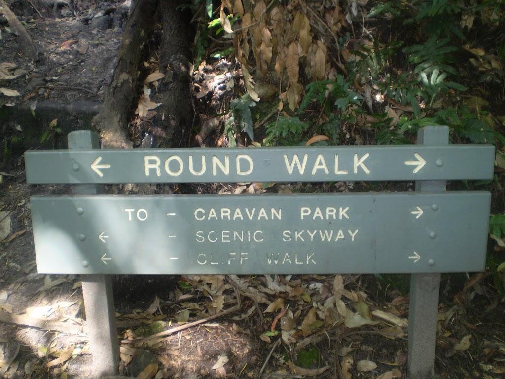Round Walk sign