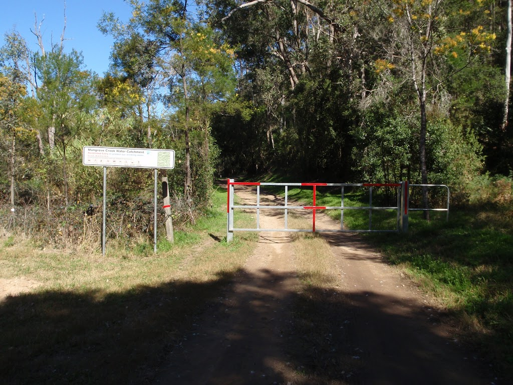 Locked gate on the old Ten Mile Hollow Rd