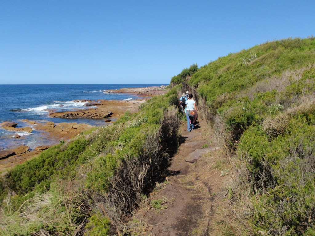 Walking north of Shelley Beach