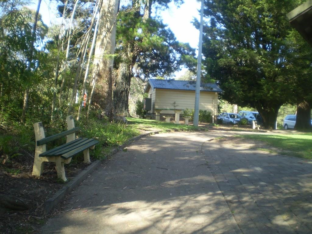 park next to kiosk