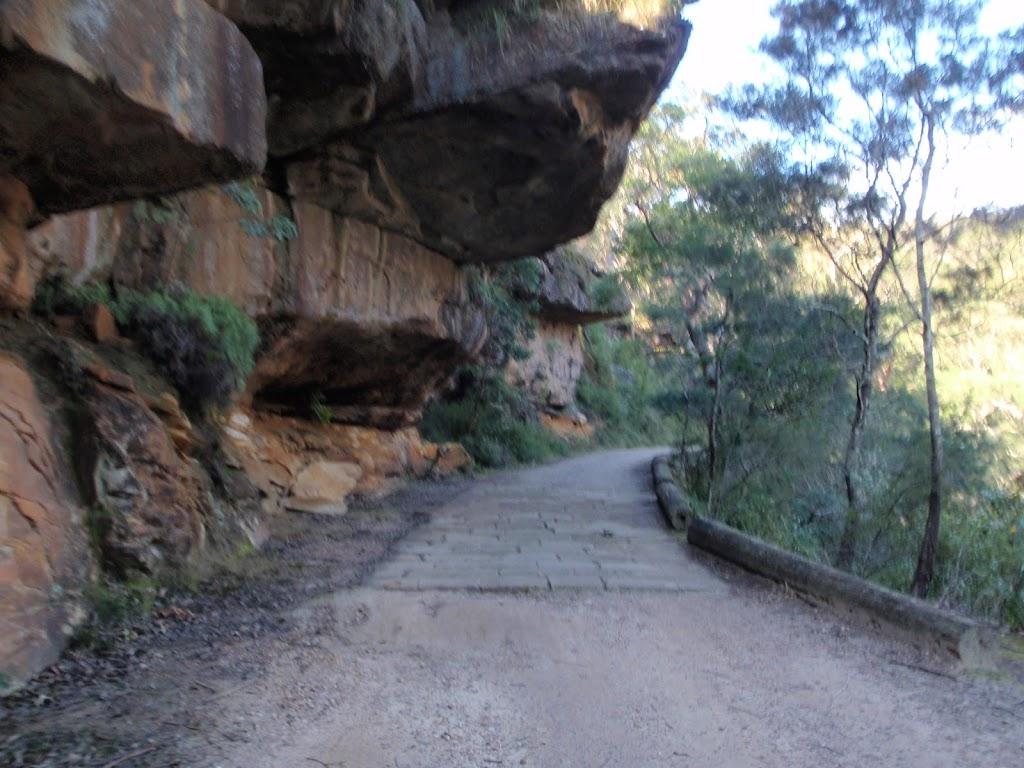 Gibraltar Rock and sandstone road