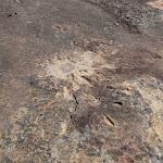 Mortar shell impact at Refuge Rock (173889)