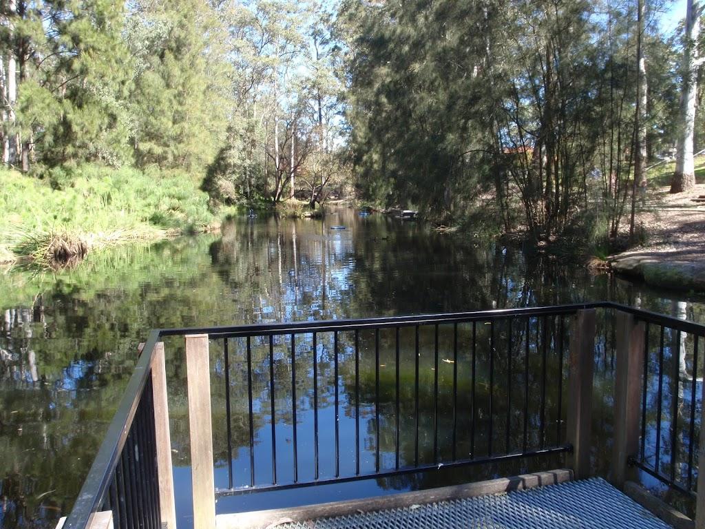 Viewing platform at The Lakes of Cherrybrook