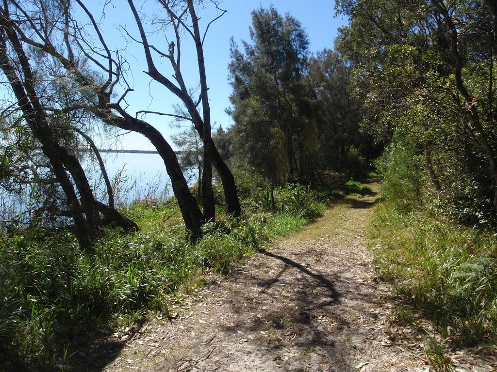 Walking along the edge of Tuggerah lake