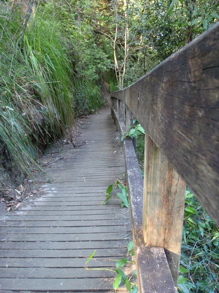 Walkway leading to bottom falls