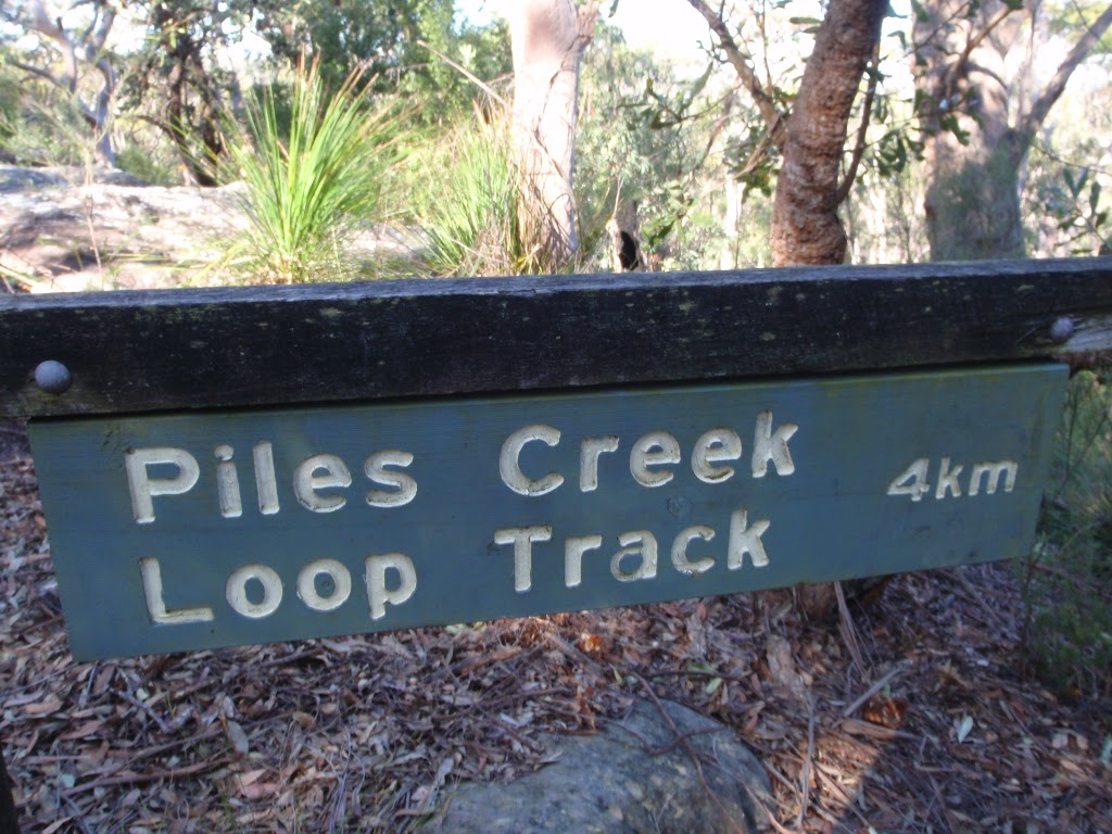 Sign to Piles Creek