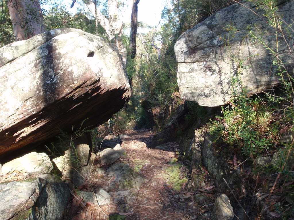 Large boulders along much of this section of track
