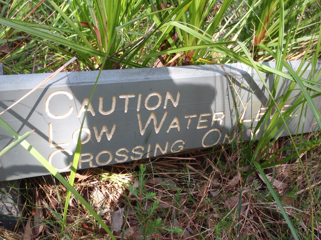 Low water Crossing sign