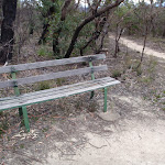 Bench beside the track