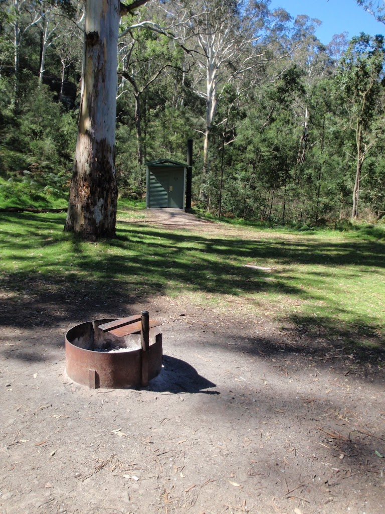 Fire place and toilet at Darug campsite