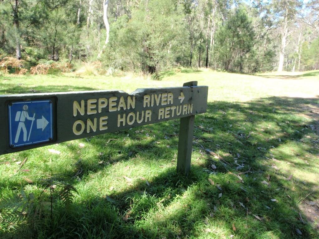 Nepean River track sign near Darug campsite