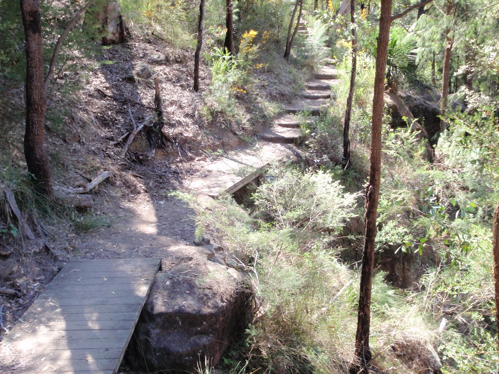 Track above Nepean River