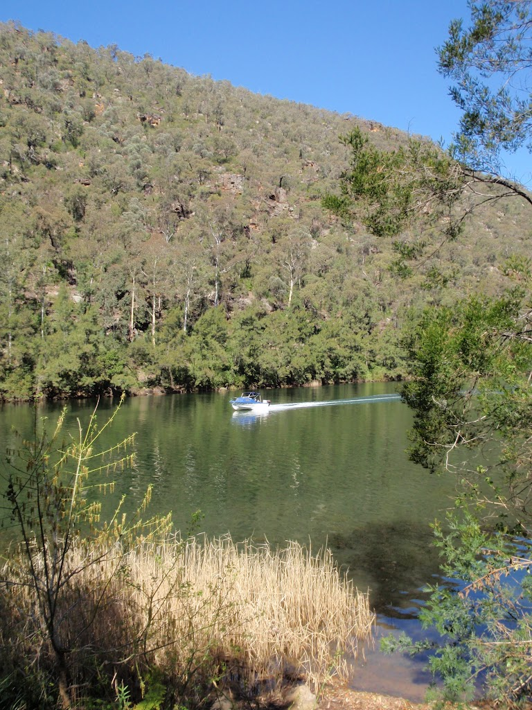 Boat passing on the Nepean River