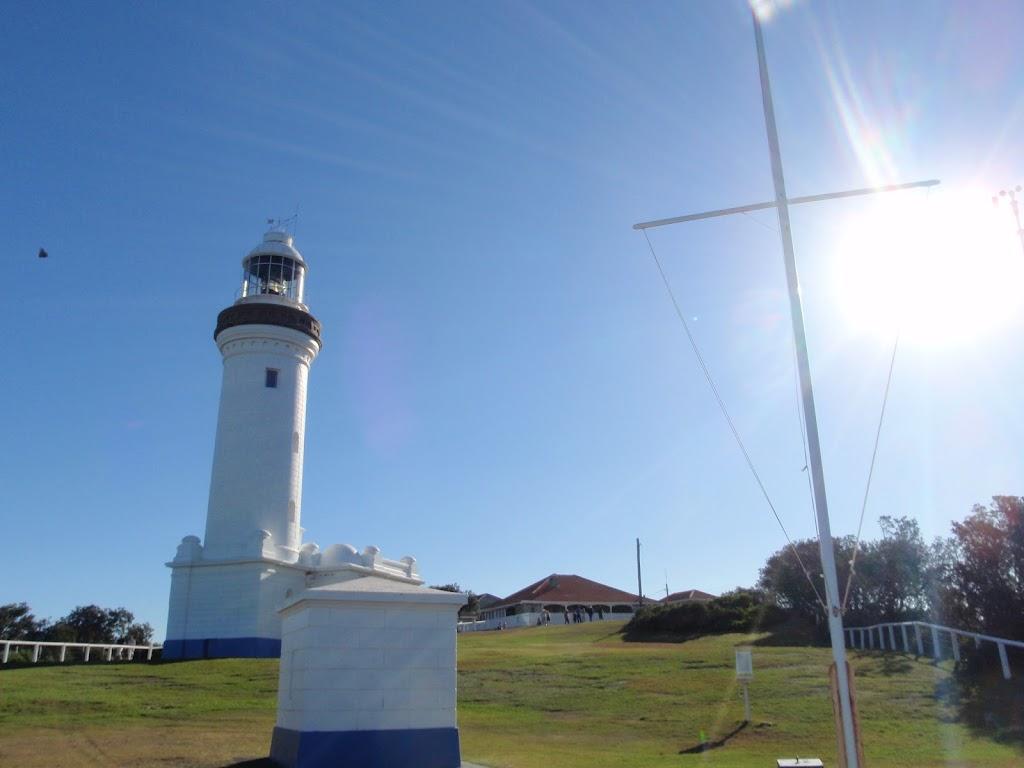 Lighthouse and signal flag pole