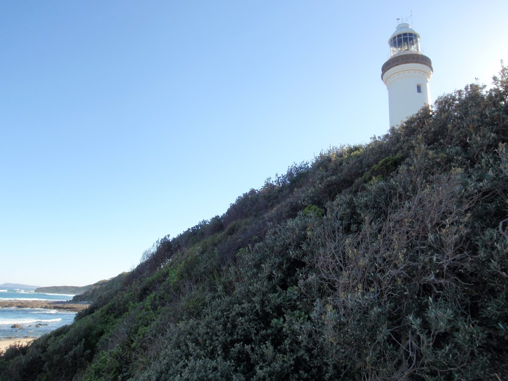 Norah Head lighthouse from below
