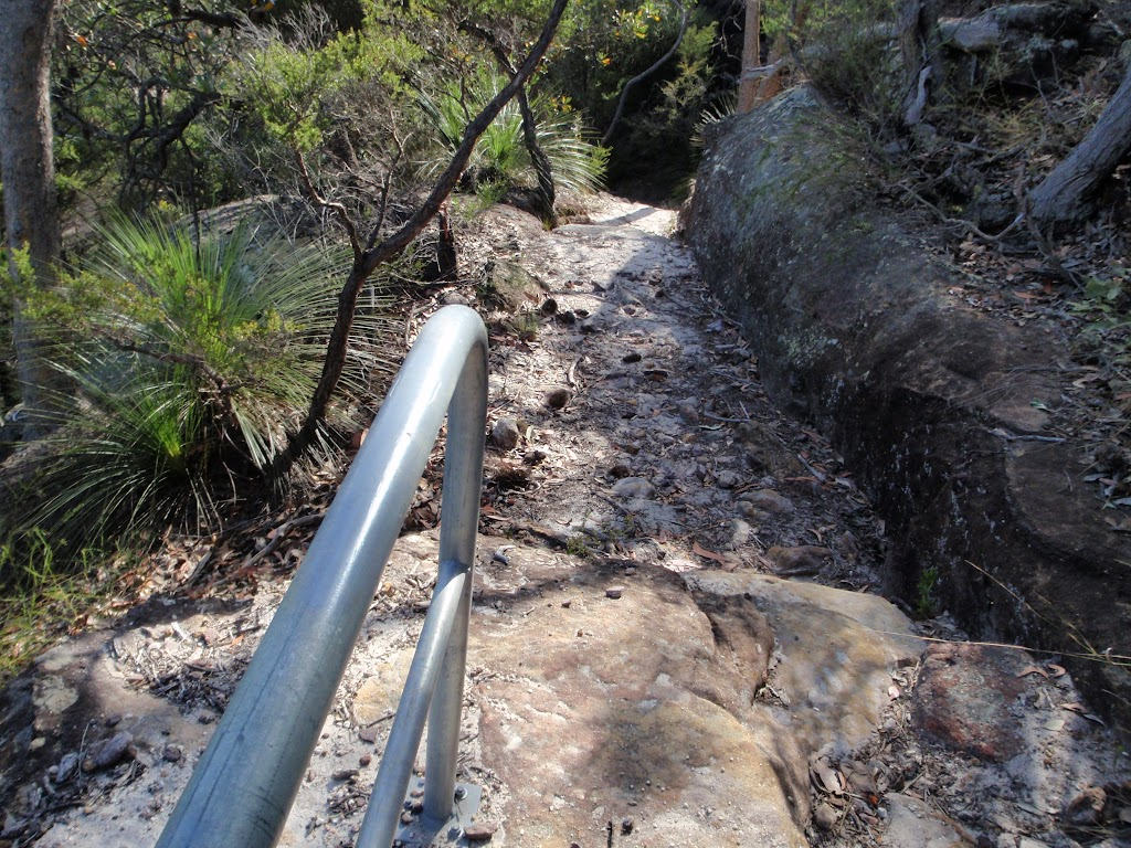 Hand rail on track