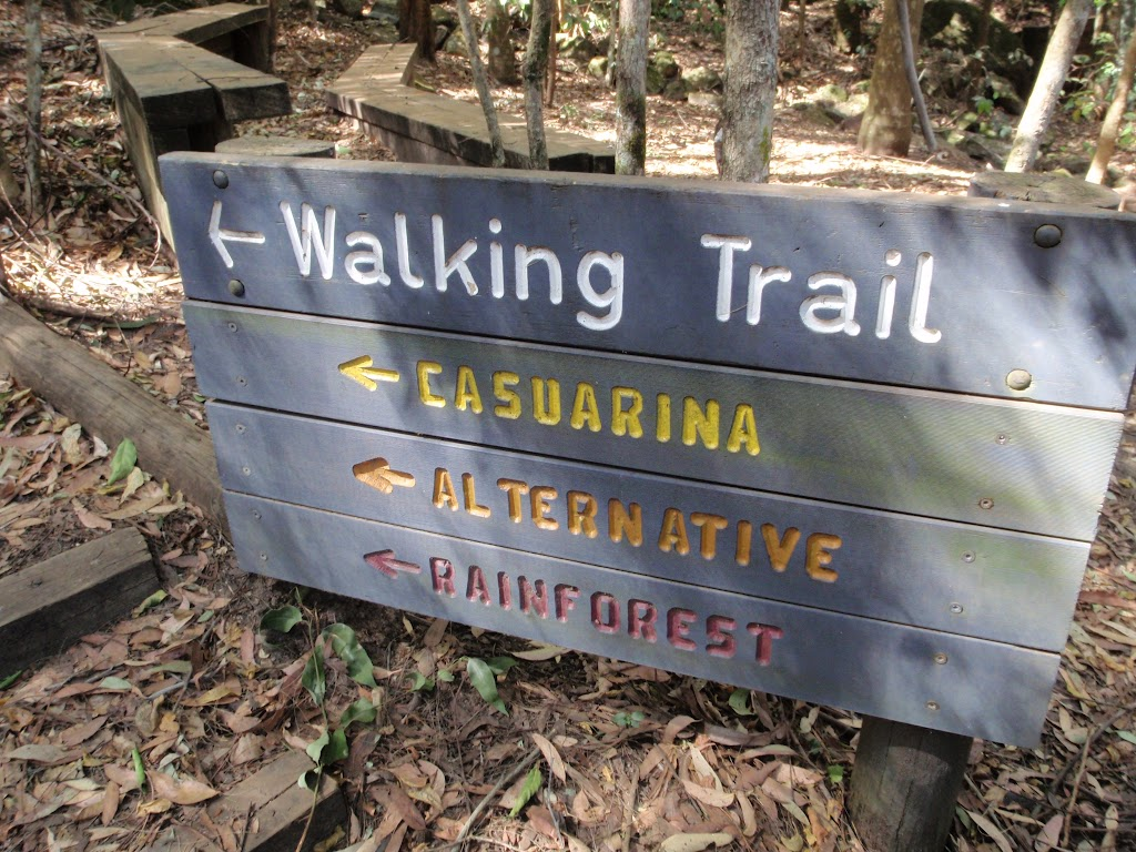 Walking trail signpost