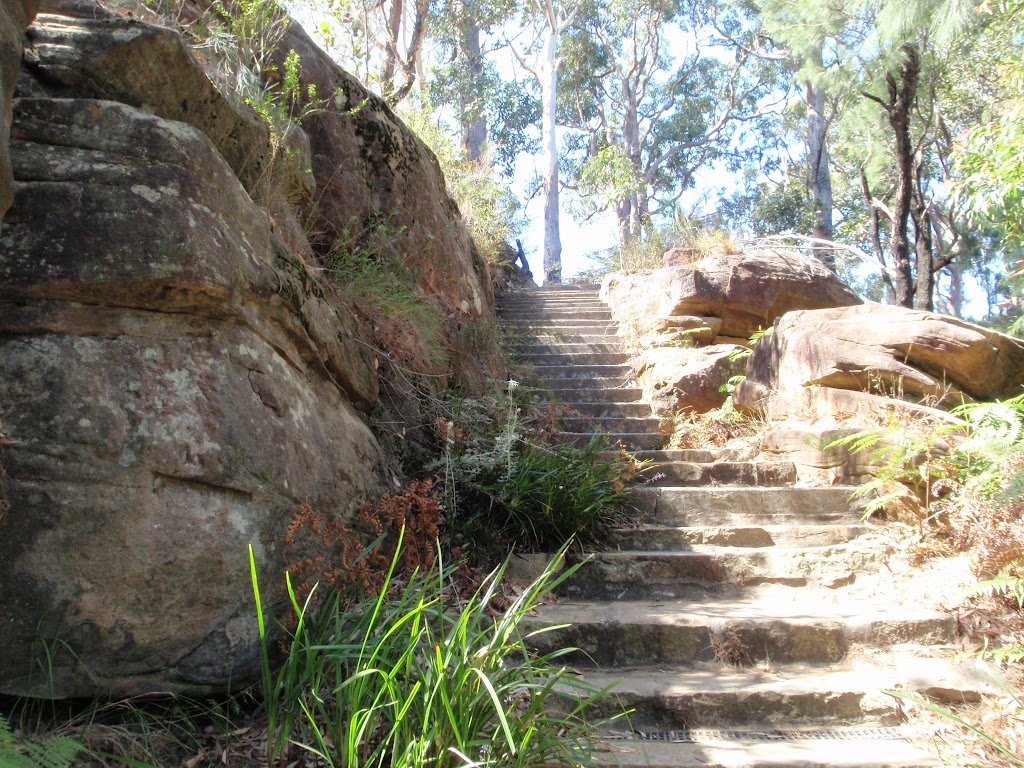 Steps below Ouraka Point