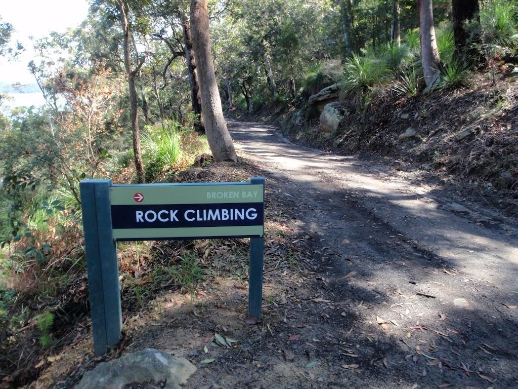 Bottom of the Rock climbing track