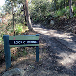 Bottom of the Rock climbing track