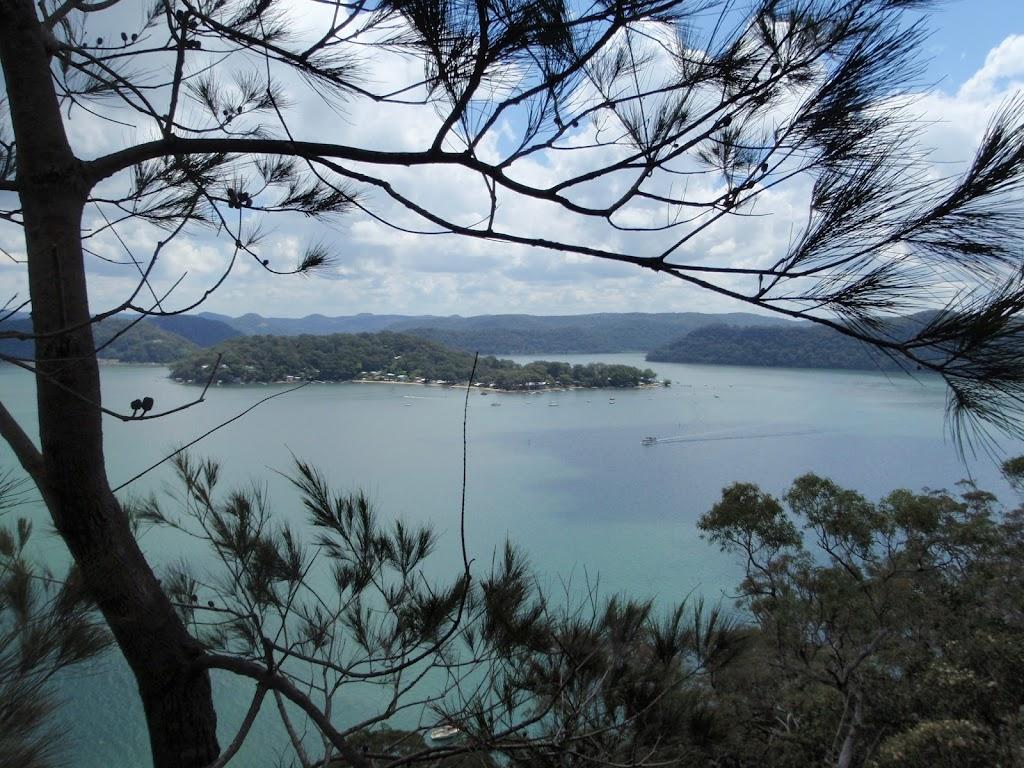 View of Dangar Island from the Highway Ridge track